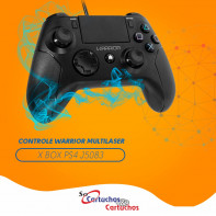 Controle Gamer Multilaser PS4/PC Warrior JS083